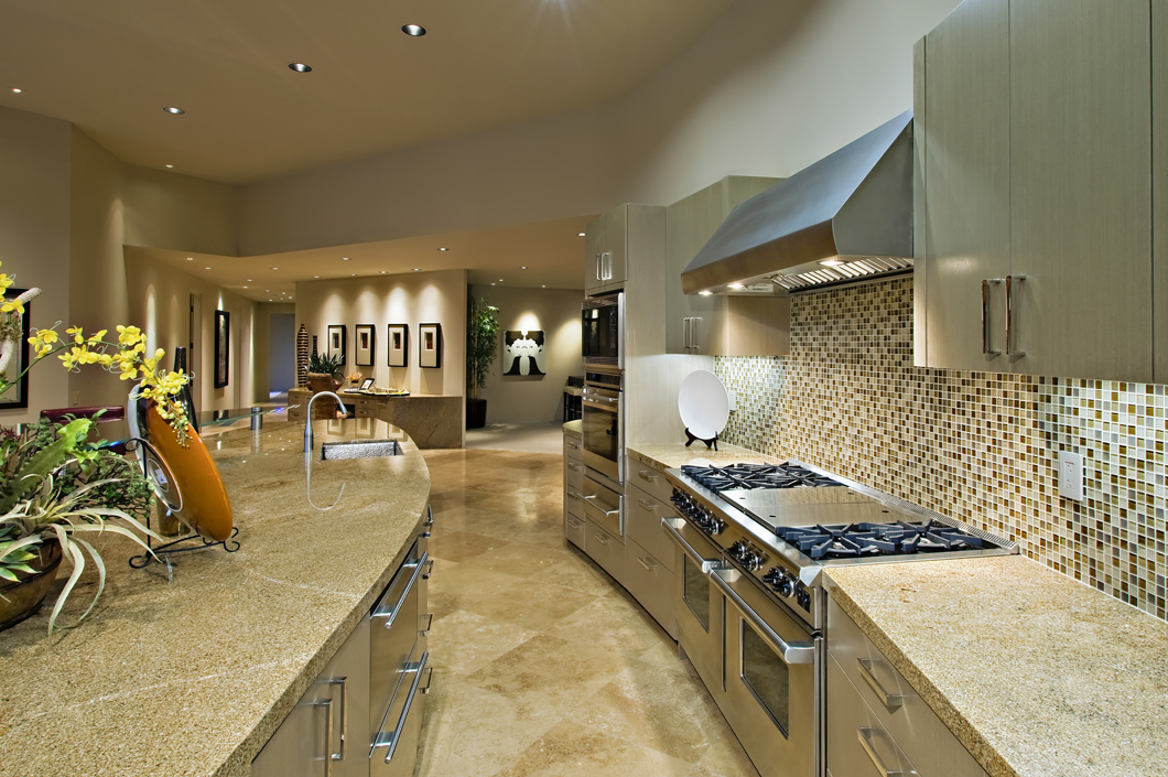 Consider marble or granite for beautiful kitchen counters